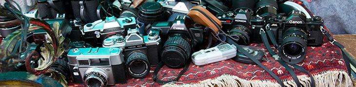 Macchine fotografiche al mercatino dell'usato