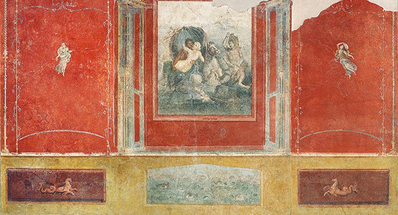 Affresco in Villa Carmiano Triclinio agli Scavi Archeologici di Stabia