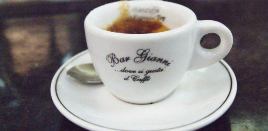 El café del bar Gianni
