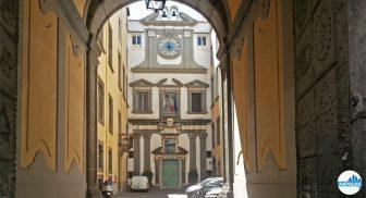Cortile dell'Istituto Banco di Napoli - Fondazione - Palazzo Ricca a Napoli