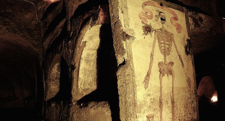 Interno delle catacombe di San Gaudioso a Napoli