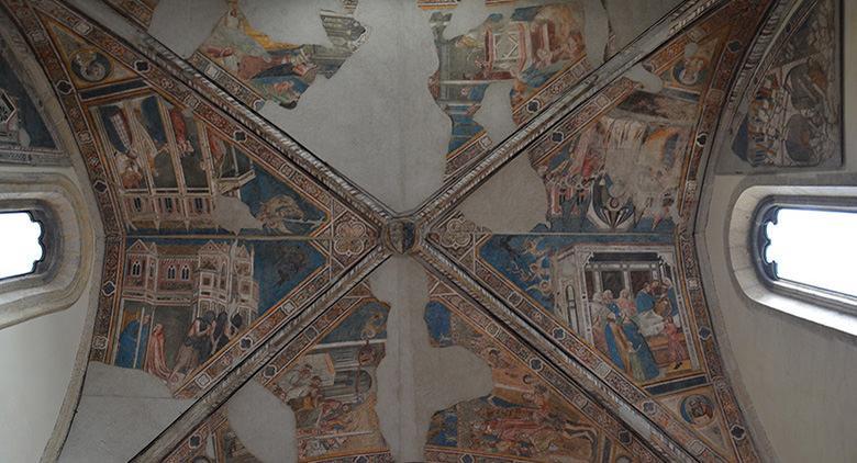 Affresco della chiesa di Santa Maria dell'Incoronata a Napoli