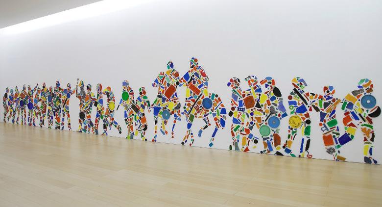 Allestimento d'arte contemporanea al museo MADRE di Napoli