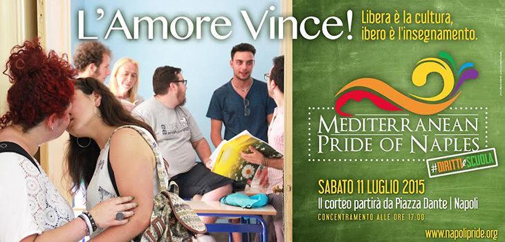 Locandina del Napoli Pride 2015