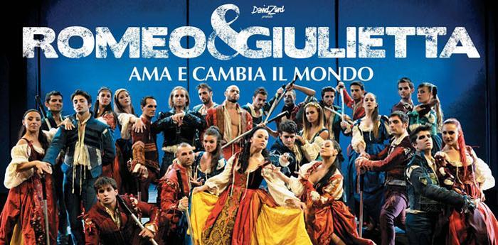 Romeo e Giulietta in scena al Teatro Palapartenope di Napoli
