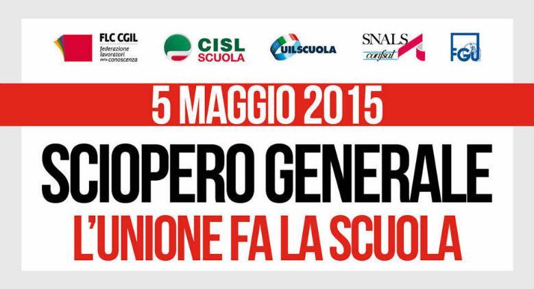 Sciopero della scuola del 5 Maggio 2015, le manifestazioni a Napoli
