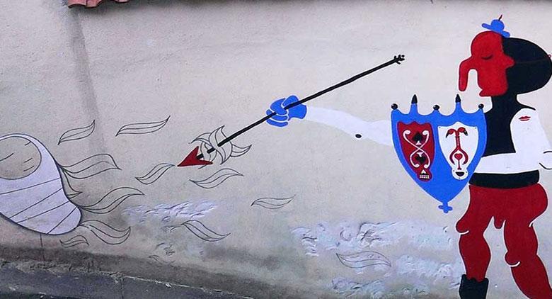 Murale di Cyop&Kaf a Napoli