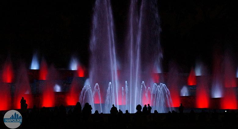 Spettacolo della Fontana dell?Esedra alla Mostra d'Oltremare di Napoli