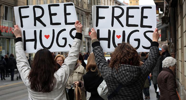 Abbracci gratuiti a Sant'Agata dei Goti