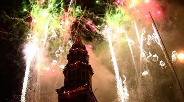 Incendio del Campanile del Carmine a Napoli