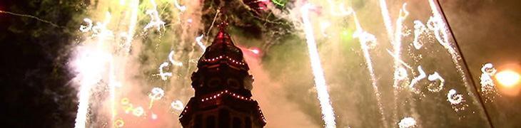 Incendio del Campanile della Chiesa del Carmine a Napoli