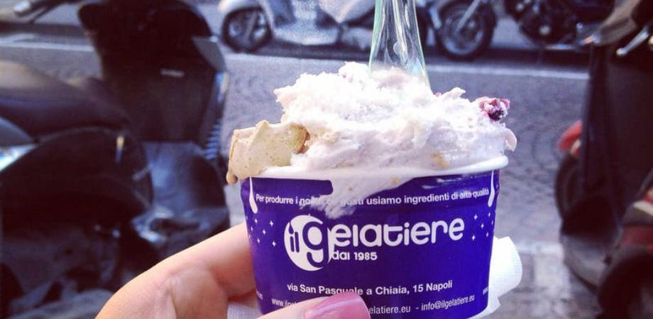 Il gelatiere a Napoli