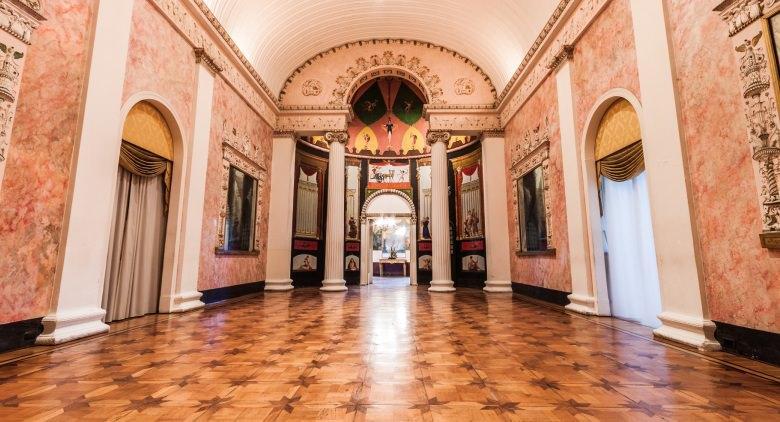 Tour virtuali della napoli borbonica al palazzo caracciolo for Planimetrie del palazzo con sala da ballo