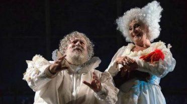 Lello Arena e Isa Danieli in Sogno di una notte di mezza estate