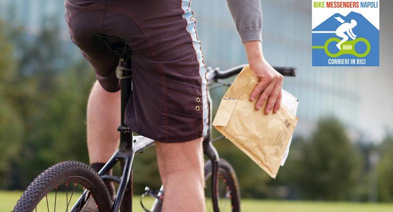 bike messenger a napoli, i corrieri in bicicletta
