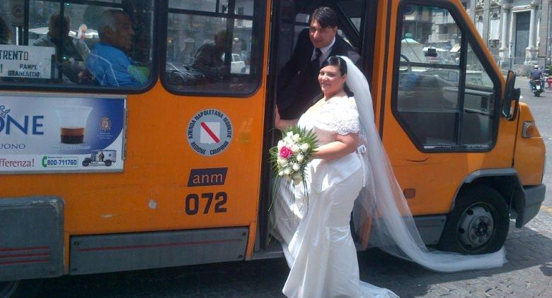 matrimonio sul bus