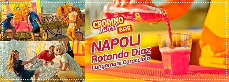 Crodino Twist Bar sul Lungomare di Napoli