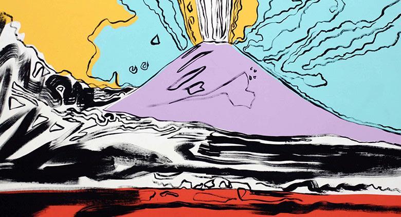 فيسوفيوس بواسطة أندي وارهول في مزاد علني