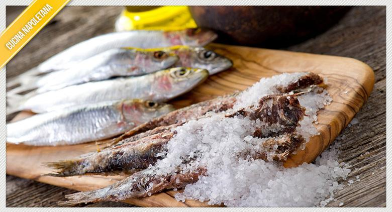 Recipe of anchovies in salt