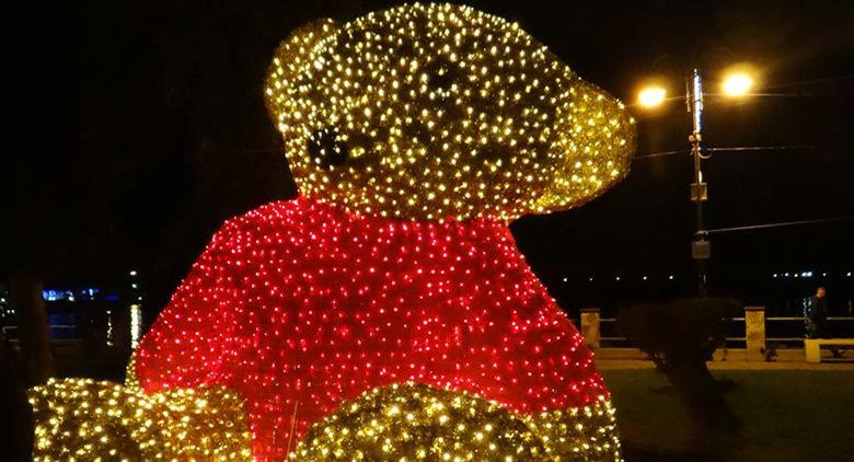 Luminarie Winnite the Pooh al Villaggio di Natale a Bacoli