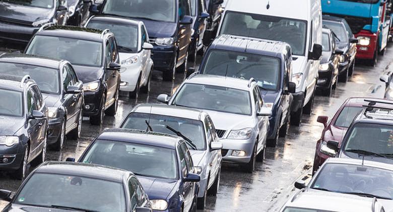 Blocco del traffico a Napoli a gennaio 2016