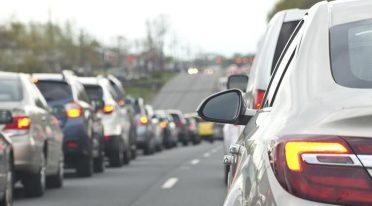 Verkehrsblock in Neapel Samstag 12 Dezember 2015