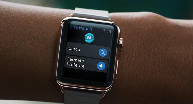App Gira Napoli per Apple Watch