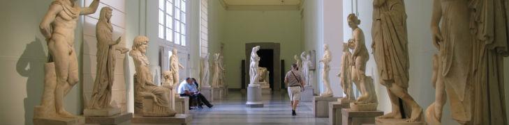 interna del museo archeologico di Napoli