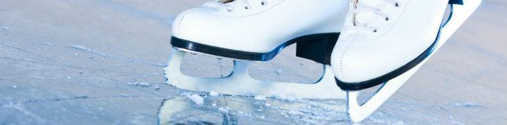 Pista di pattinaggio su ghiaccio al Vulcano Buono