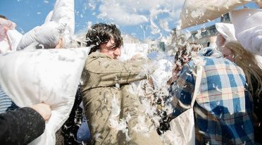 World Day of Pillow Fight in Naples