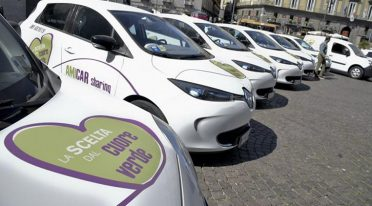 Amicar sharing in Naples by electric car