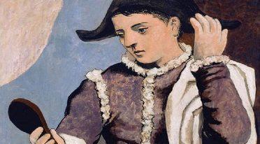 L'arlecchino con lo specchio di Picasso