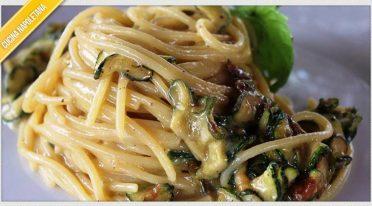 Recipe of spaghetti alla Nerano