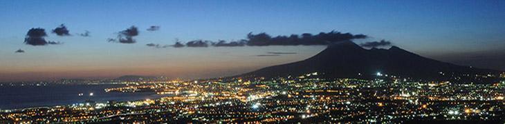 Il Vesuvio di notte
