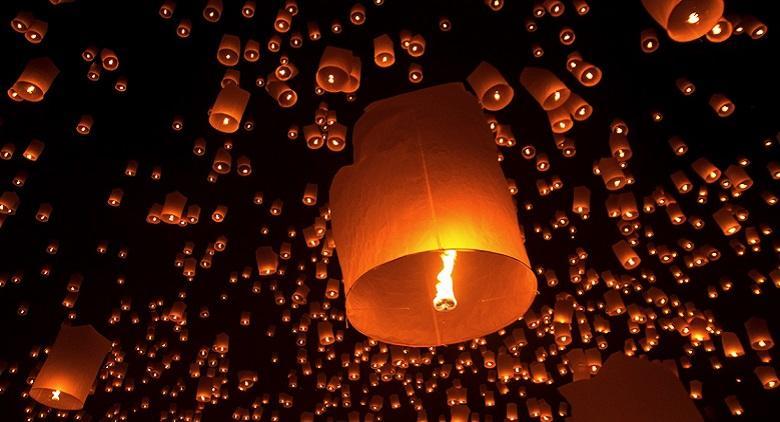 La Cerimonia delle lanterne volanti alla Mostra d'Oltremare