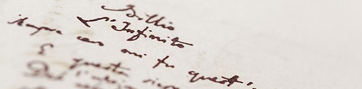 Manoscritto di Giacomo Leopardi