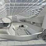 Lo spazio centrale della stazione di Afragola