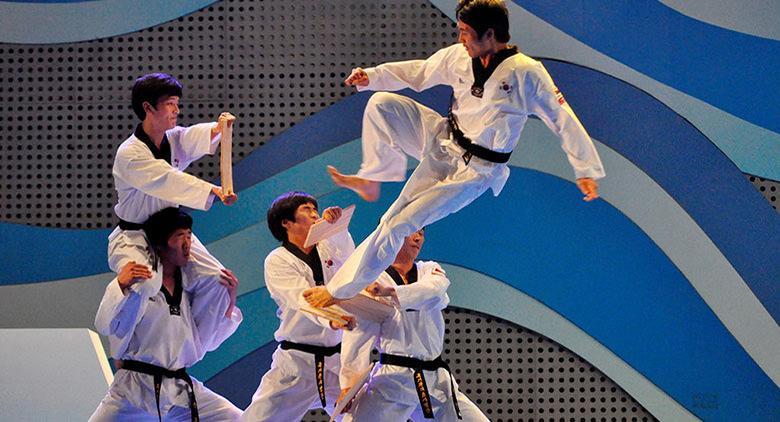 Taekwondo show al Vomero