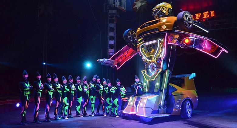 Transformer del Circo Nelly Orfei a Giugliano