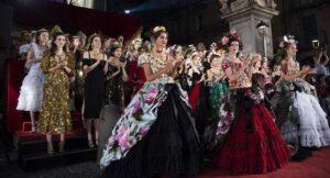 Dolce & Gabbana fashion show in Naples