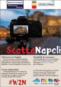 Locandina del contest ScattaNapoli