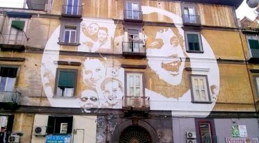 Street Art nahm am Gesundheitsbezirk in Neapel teil