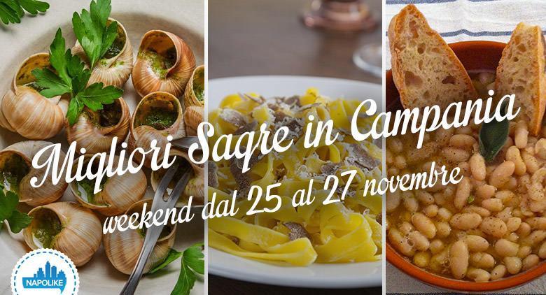 Sagre in Campania nel weekend dal 25 al 27 novembre 2016