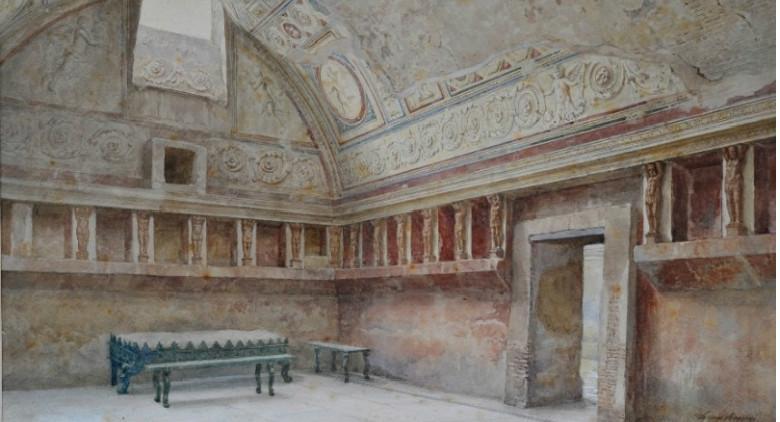 Riaprono le Terme Suburbane di Pompei con gli affreschi erotici