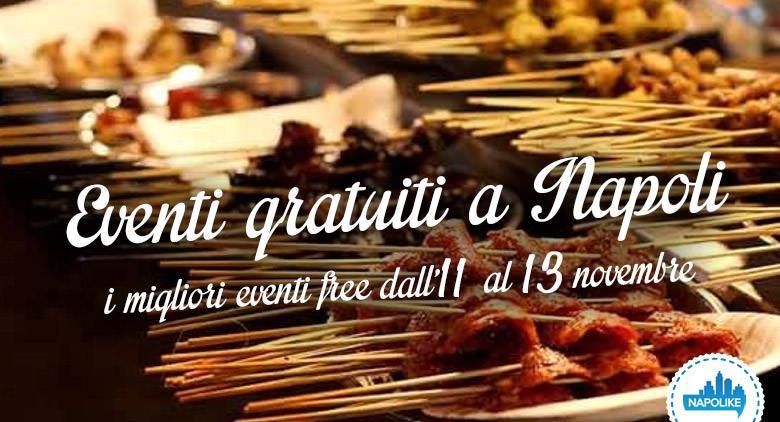 Eventi gratuiti a Napoli nel weekend dall'11 al 13 novembre 2016