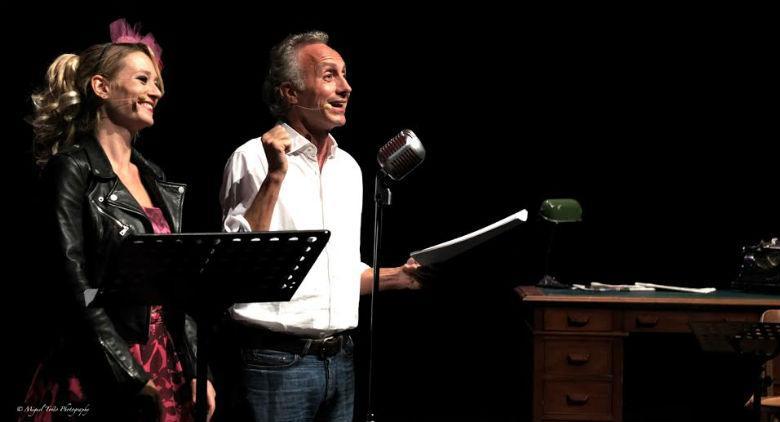 Marco Travaglio e Giorgia Salari al Teatro Bellini di Napoli con Slurp