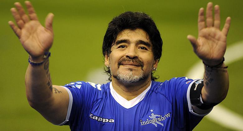 Maradona al Teatro San Carlo di Napoli