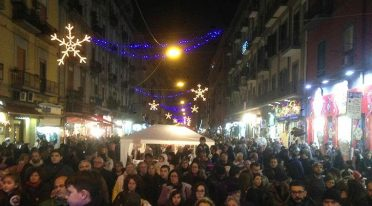 White nights in Via Nazionale and Naples for 2016 Christmas