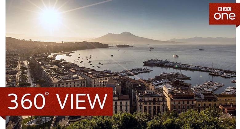 Napoli in un programma della BBC con tecnologia 3D