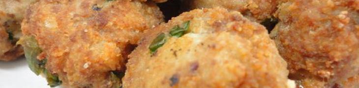 Tomacelle, polpette fritte a base di fegato di maiale
